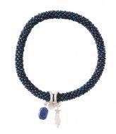 A Beautiful Story Jacky Multi Color Lapis Lazuli Bracelet silver plated (BL24815)