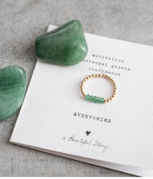 A Beautiful Story Ring Beauty Aventurine Gold Filled Ring M/L gold filled (BL25336)