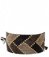 A Beautiful Story Willow Black Onyx Gold Bracelet gold colored