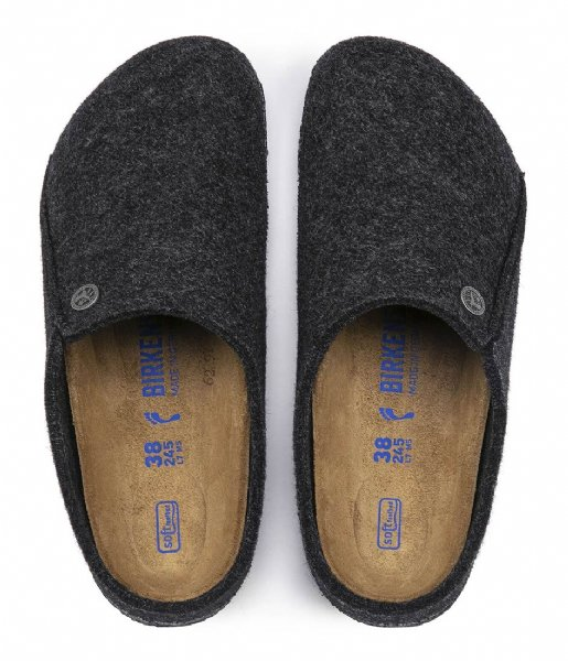 Birkenstock Pantoffels Zermatt narrow Filz Soft Cozy Home Anthracite