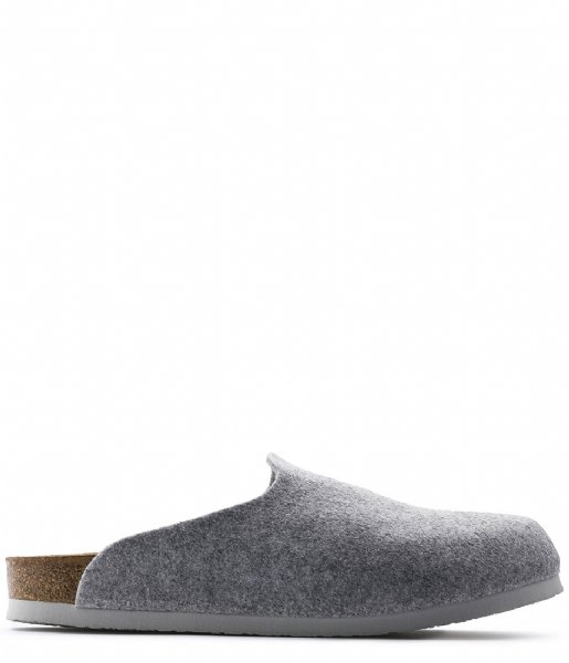 Birkenstock Pantoffels Amsterdam Narrow Beg Felt Wooly Home light grey