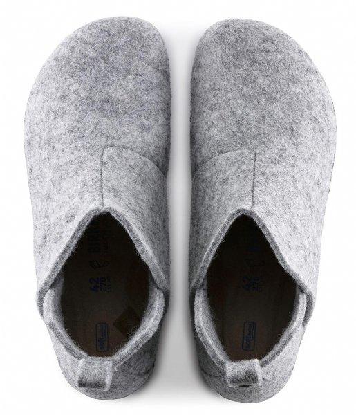 Birkenstock Pantoffels Andermatt Narrow Filz Soft Cozy Home Light Gray (1017880)
