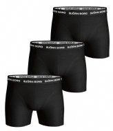 Björn Borg Shorts Sammy Solid Essential 3 Pack Black (90011)