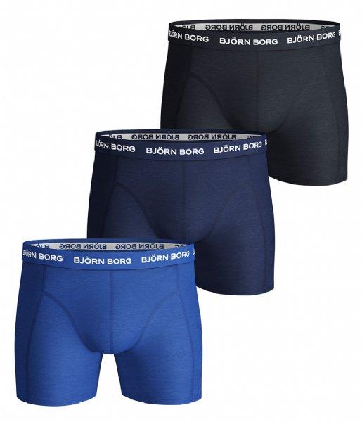 Björn Borg Boxershort Shorts Sammy Solid Essential 3 Pack Skydiver (71191)