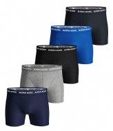 Björn Borg Shorts Sammy Solid Essential 5 Pack Blue depths (70101)
