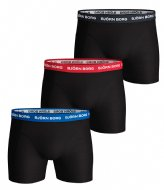 Björn Borg Shorts Sammy Noos Contrast Solids Essential 3 Pack Black (90012)
