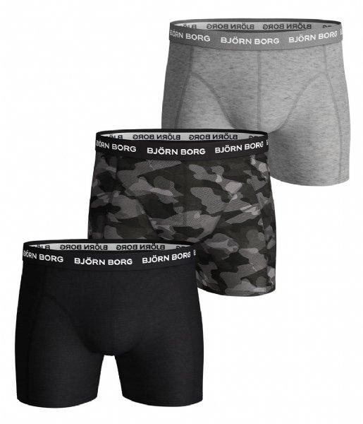 Björn Borg Boxershort Shorts Sammy Shadeline Essential 3 Pack Black beauty (90651)