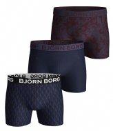 Björn Borg Wingspan & 2 W Sammy Shorts Core 3 Pack Blue depths (70101)