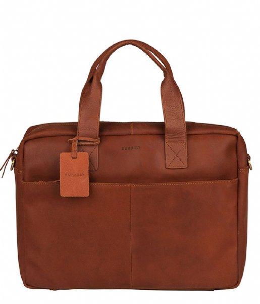 Burkely Laptop schoudertas Burkely Vintage River Worker 15.6 Inch cognac (24)