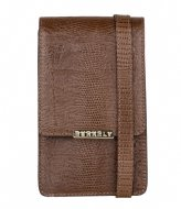 Burkely Phone Bag Dark brown armadillo (20)