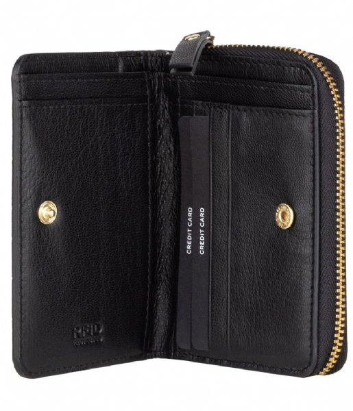 Burkely Ritsportemonnee Wallet S Croco Black Croco (10)
