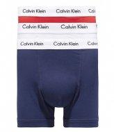 Calvin Klein 3 Pack Trunk White red ginger pyro blue (I03)
