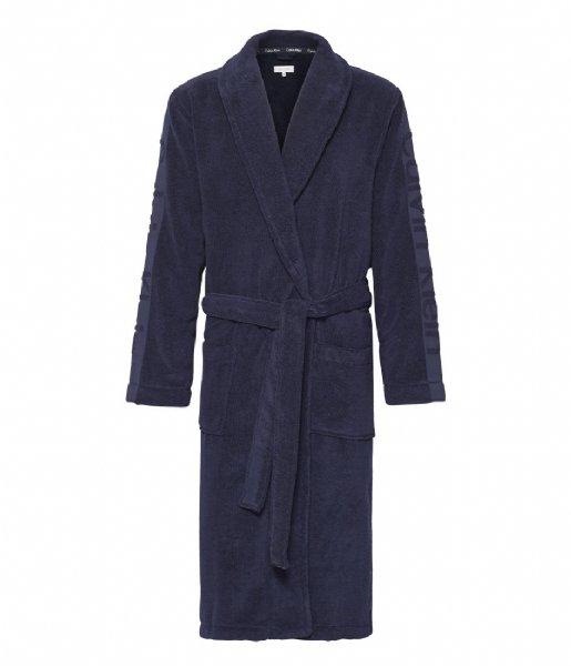 Calvin Klein Nachtmode & Loungewear Robe Blue Shadow (8SB)