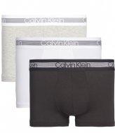 Calvin Klein Trunk 3Pk Grey Heather/Black/White (MP1)