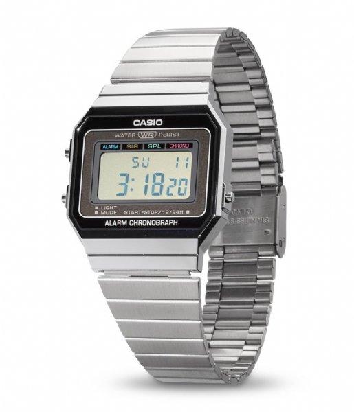 Casio Horloge A700WE-1AEF Vintage Iconic Zilverkleurig