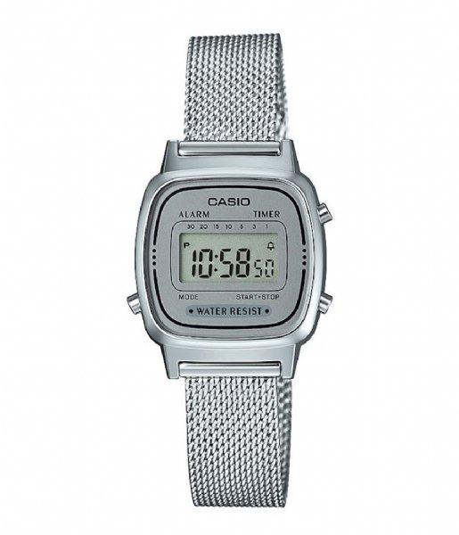 Casio Horloge LA670WEM-7EF Vintage Mini Zilverkleurig