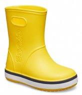 Crocs Kids Crocband Rain Boot Yellow navy (734)