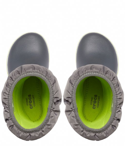 Crocs Snowboot Crocband Winter Boot Slate gray lime punch (0GX)