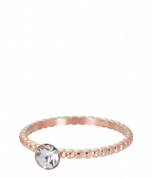iXXXi Ring Ball With Crystal Stone Rosé colored (02)