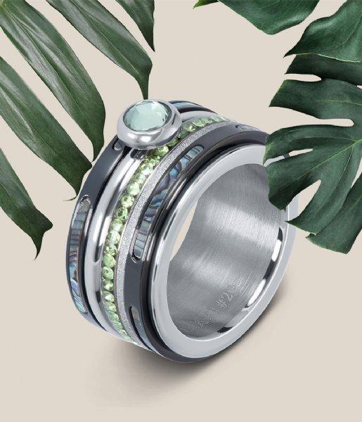 iXXXi Ring Zirconia peridot Silver colored (03)