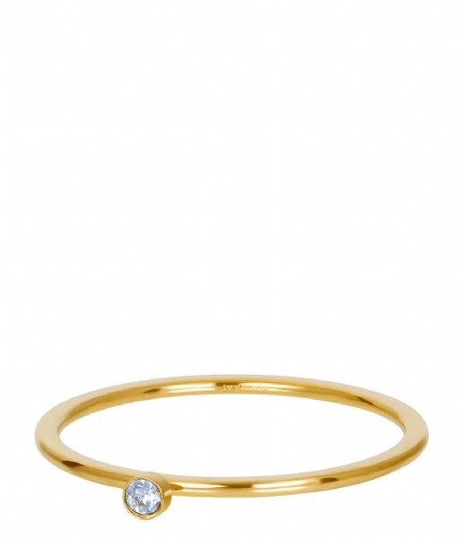 iXXXi Ring light sapphire 1 stone crystal Gold colored (01)