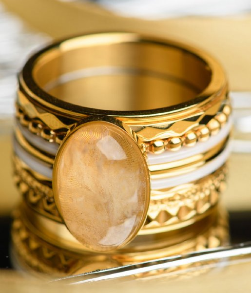 iXXXi Ring Royal Queen Drop Gold plated (001)