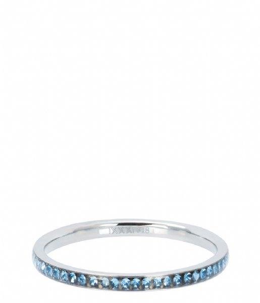 iXXXi Ring Zirconia light sapphire Silver colored (03)