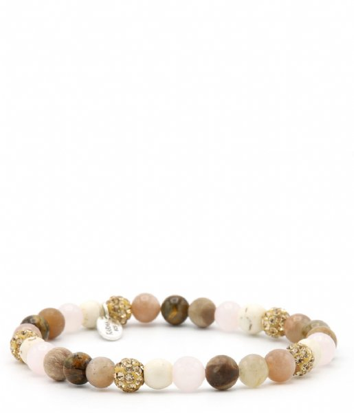 Karma Armband Spiral Simply Brown XS EL Gold colored