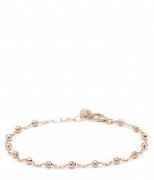 Karma Armband Karma Bracelet Dots Zilver Roseplated (94020)