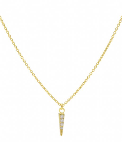 Karma Ketting Karma Necklace Cone Zirk Zilver Goldplated (T220)