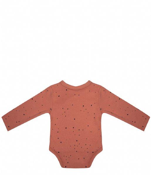 Little Indians Babykleding Onesie Longsleeve Dots Canyon Clay (ONLS08-CC)
