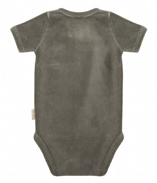 Little Indians Babykleding Onesie Shortsleeve Corduroy Green (ONSH12-CG)