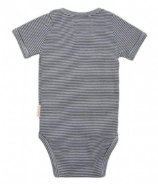 Little Indians Babykleding Onesie Shortsleeve Small Stripe Rib Small Stripe (ONSH11-SS)