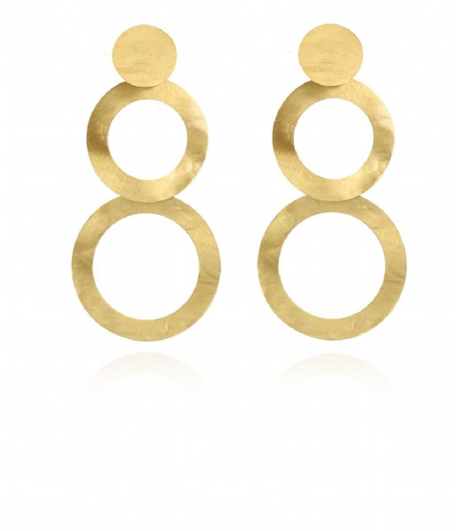 LOTT Gioielli Oorbellen Classic Earring Double round open Gold plated