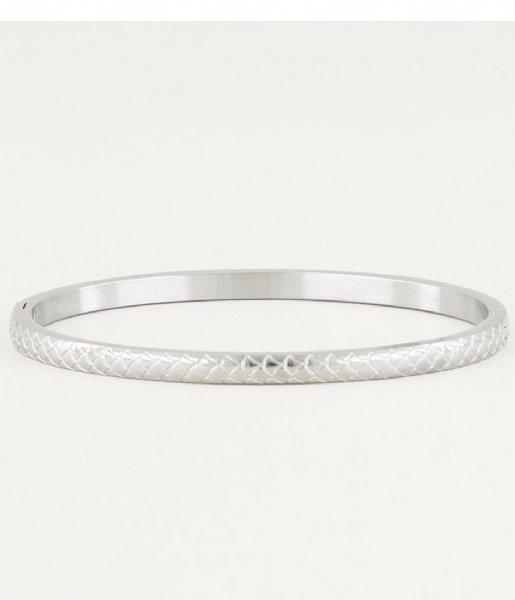 My Jewellery Armband Bangle Schubben Smal zilverkleurig (1500)
