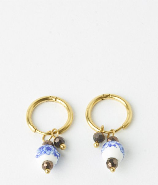 My Jewellery Oorbellen Oorbel kraal gold colored