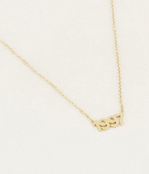 My Jewellery Ketting Ketting Jaartal gold colored