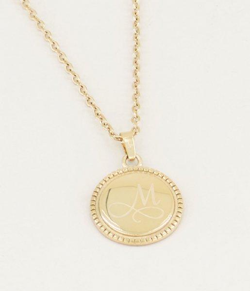 My Jewellery Ketting Ketting Initial Munt goudkleurig (1200)