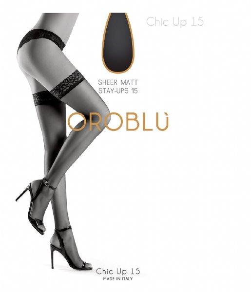 Oroblu Kousen Bas Chic Up Kous 15 Denier black (9999)