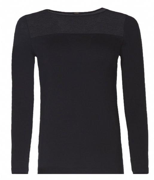 Oroblu T-shirt Perfect Line T-Shirt Round Neck Long Sleeves Black (9999)