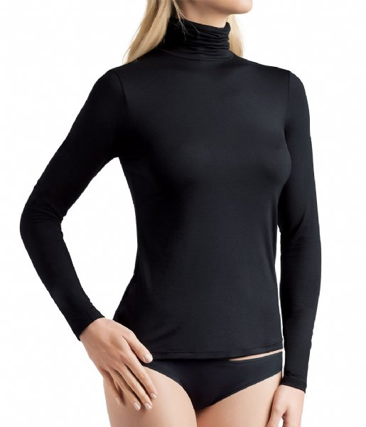 Oroblu T-shirt Perfect Line Turtle Neck Long Sleeves Black (9999)