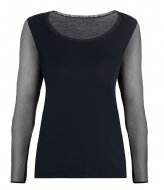 Oroblu Perfect Line T-Shirt Tulle Long Sleeves Black (9999)