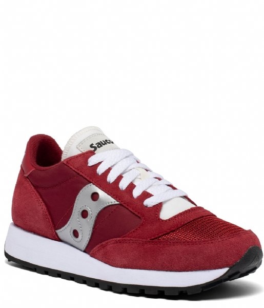 Saucony Sneakers Jazz Original Vintage Red white silver (157)