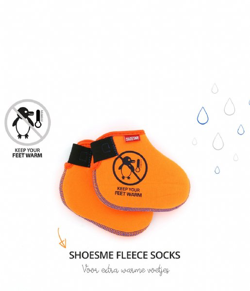 Shoesme Regenlaarzen Rubber Laars met Fleece Sock Fuchsia Sterren