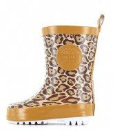 Shoesme Rubber Laars met Fleece Sock Leopardo