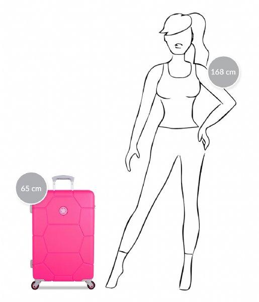 SUITSUIT Reiskoffer Caretta Suitcase 24 inch Spinner hot pink (12484)
