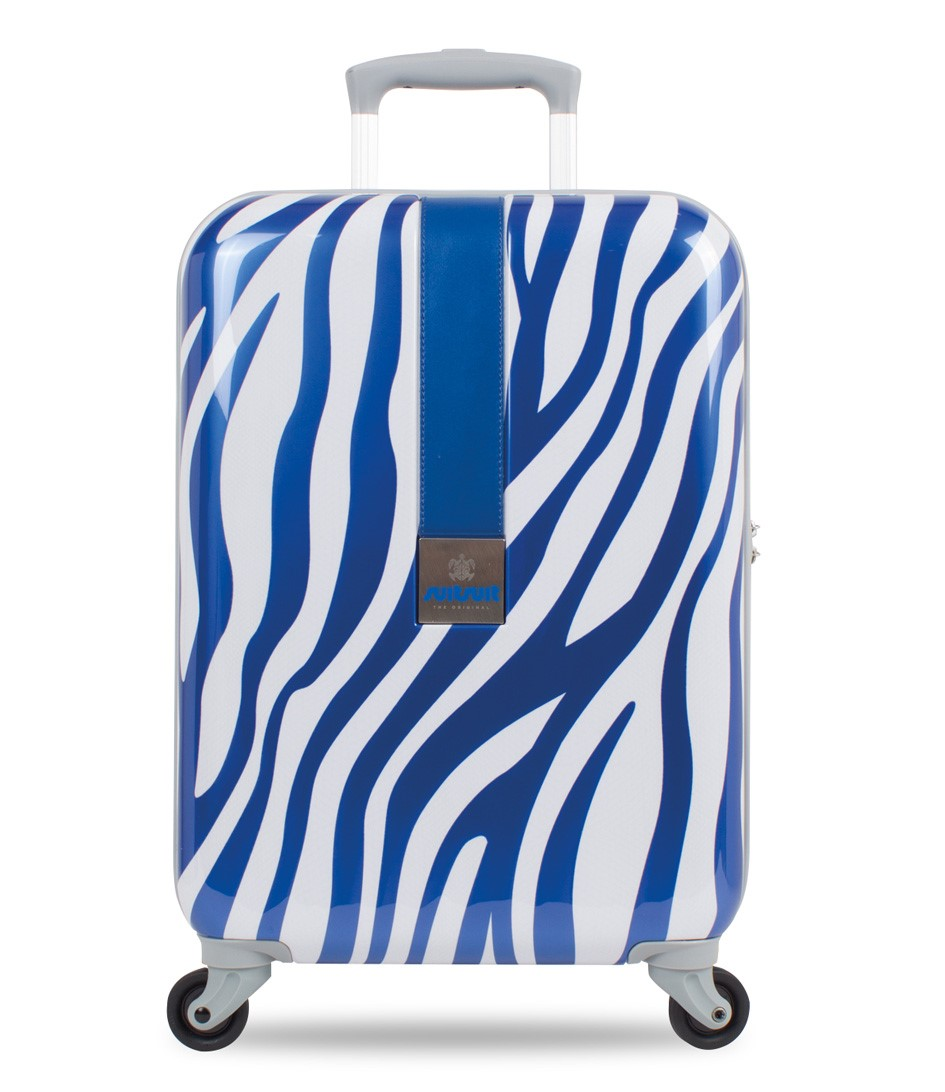 SUITSUIT Koffers African Zebra 20 inch Spinner Blauw
