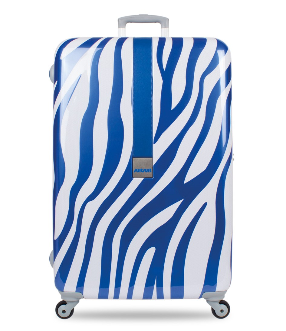 SUITSUIT Koffers African Zebra 24 inch Spinner Blauw