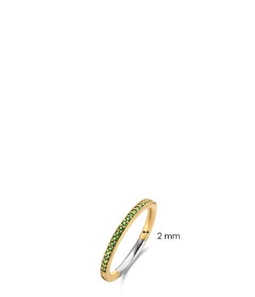 TI SENTO - Milano Ring 925 Sterling Zilver Ring 1923 Emerald (1923EM)