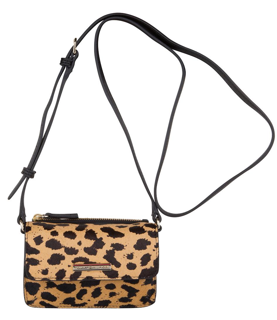 Tommy Hilfiger Handtassen Honey Mini Crossover Cheetah Bruin